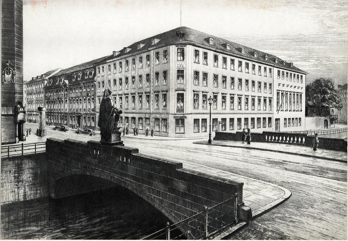 Historical picture of the DGZ in Berlin 1918