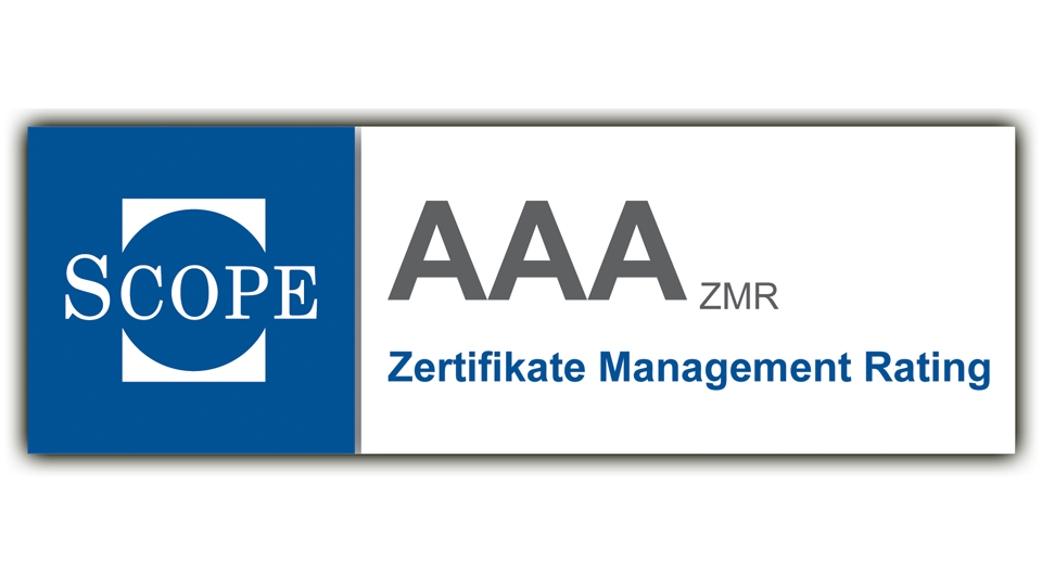 Scope Zertifikate Management Rating